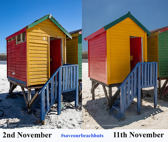 muizenberg beach huts old and new