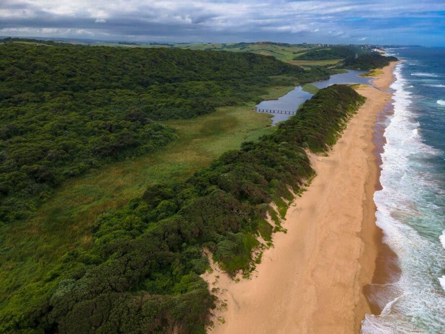 empty beach Umhlanga, Durban