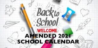 amended school calendar south africa