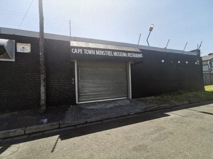 The minstrel museum may finally be opening in Cape Town seven years after the National Lotteries Commission awarded a multimillion-rand grant to establish the facility. The new Cape Town Museum and Restaurant awning only recently replaced one for the Pensyl Sporting Club. Photo: Raymond Joseph