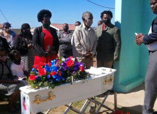 Phawu Mandiyase died last week when he was crushed by a concrete pipe. He was buried on Friday. Photo: Mkhuseli Sizani
