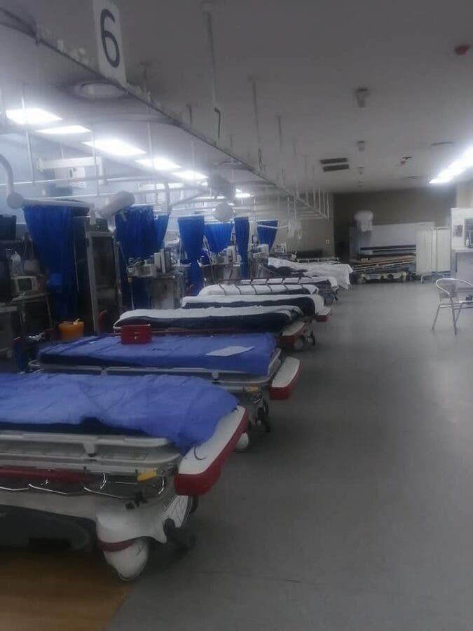 Chris Hani Baragwanath Academic Hospital empty on New Year's Day