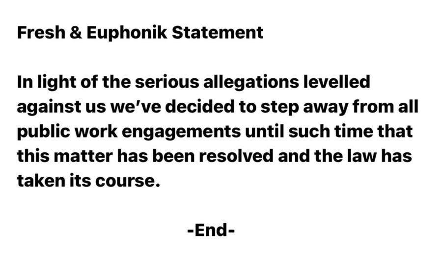 DJ Fresh and Euphonik statement