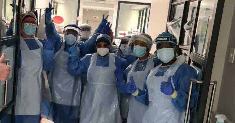 Gateway hospital ICU staff. Photo supplied.