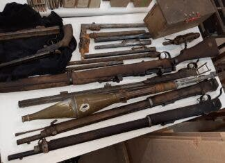 old firearms cache found south africa