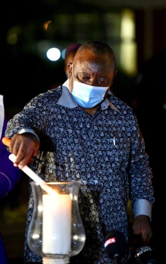 ramaphosa lights candle khayelitsha hospital