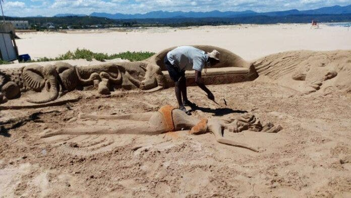 beach closure hits small businesses like sand sculptor