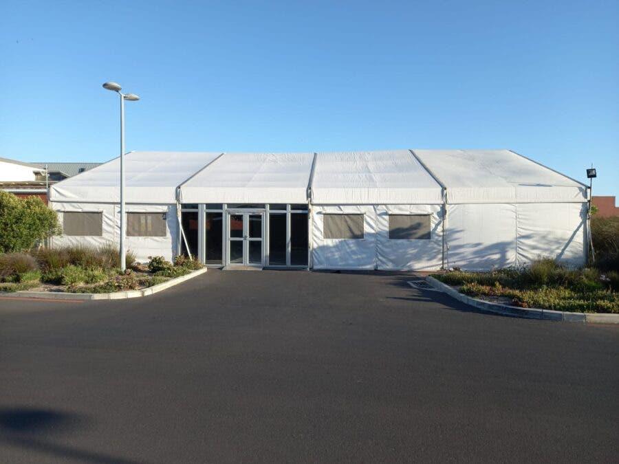 tent covid khayelitsha hospital