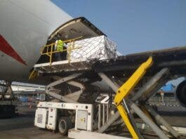 vaccine shipment for south africa from india