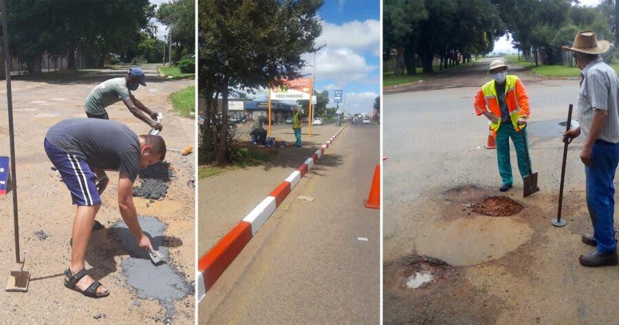 Delmas-Dorp-fixing-potholes