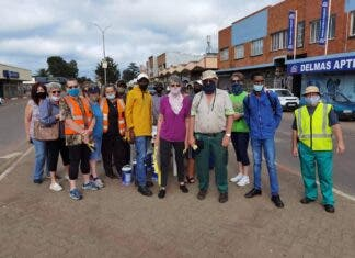 Delmas tidy up town