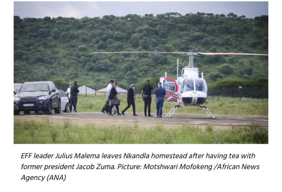 Nkandla tea party helicopter