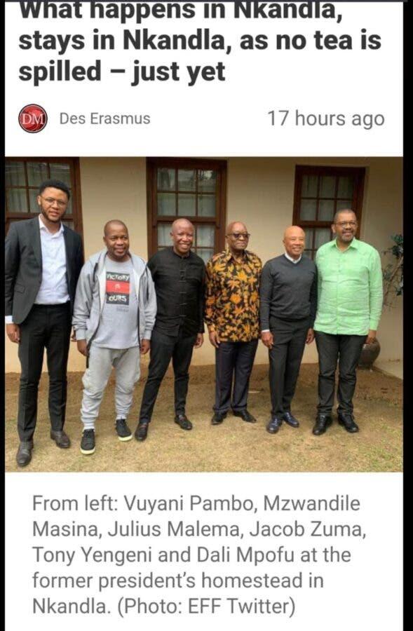 Nkandla tea party malema zuma