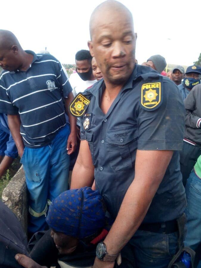policeman saves granny gogo Free State