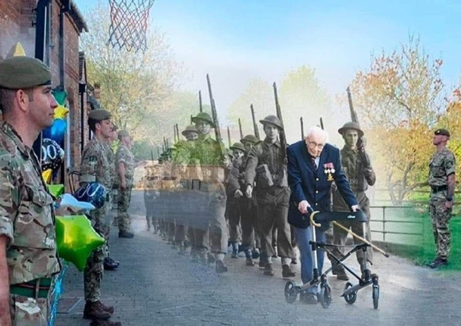sir captain tom moore tribute