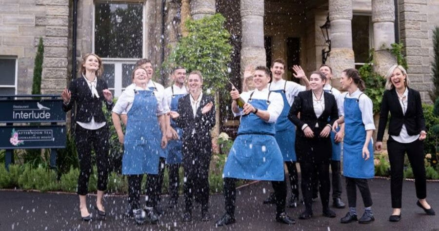 Restaurant Interlude team celebrating their first Michelin Star. Photo: Instagram