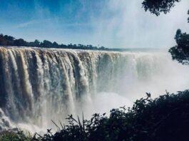 Victoria Falls Zimbabwe highest decades
