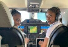 Female pilots - Captain Semedo and Captain Funmilayo. Photo: Captain Semedo