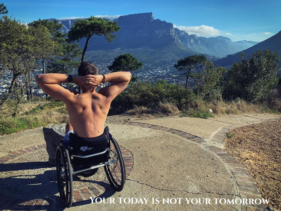 Xander van der Poll disabled rower SA expat UK