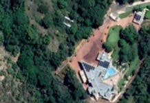 Google satellite view of a luxury house in North West which was partly paid with money that was supposed to be used to build an old age home. Image from Google Maps