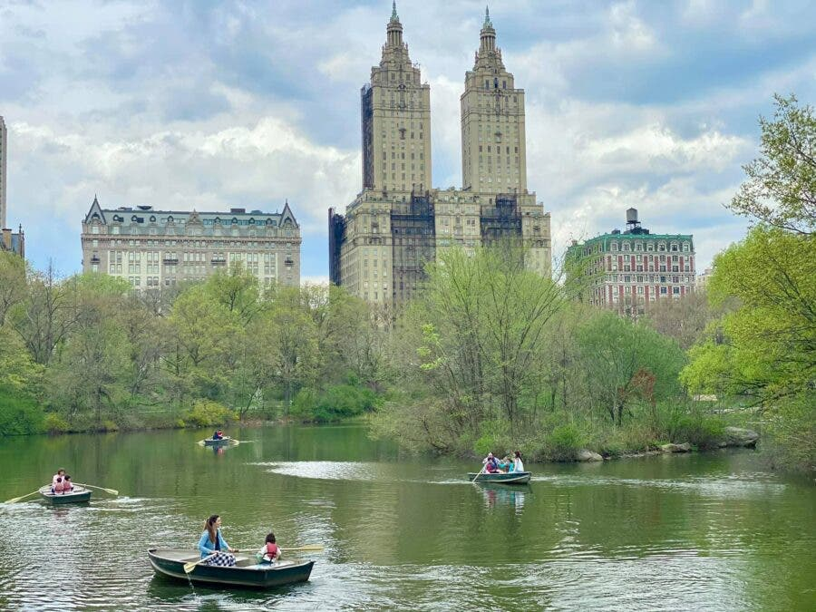 Central Park lake New York