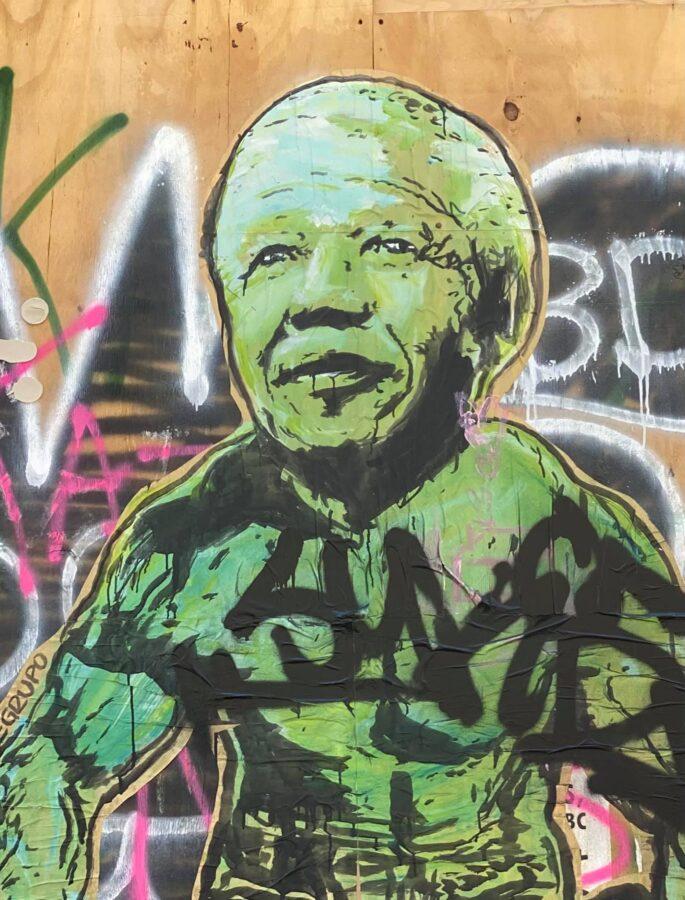 Nelson Mandela graffiti NYC