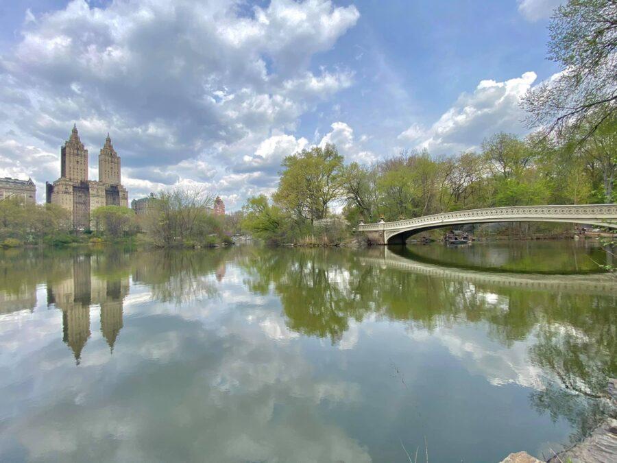 New York Central Park lake
