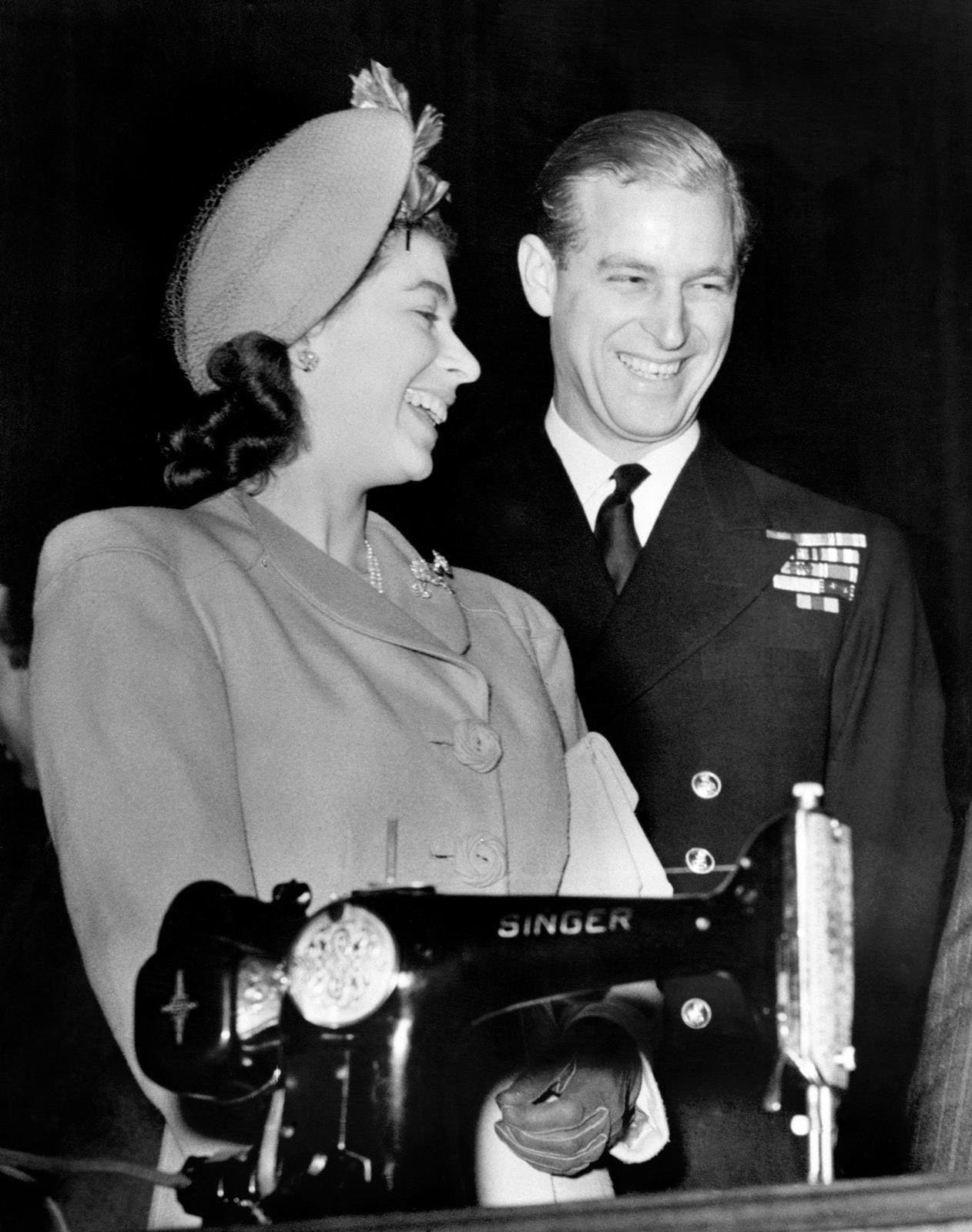 Prince Philip and Queen Elizabeth both smiling