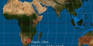 Earthquake Boksburg Johannesburg