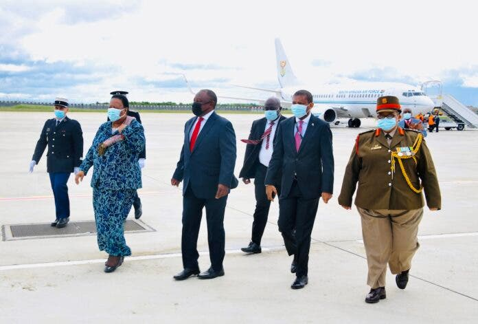 President Cyril Ramaphosa arrives at the Orly International Airport in France. Photo: GCIS