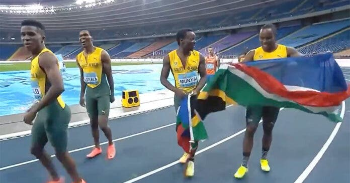 WATCH South Africa's Nail-Biting WIN at World Relay Championships