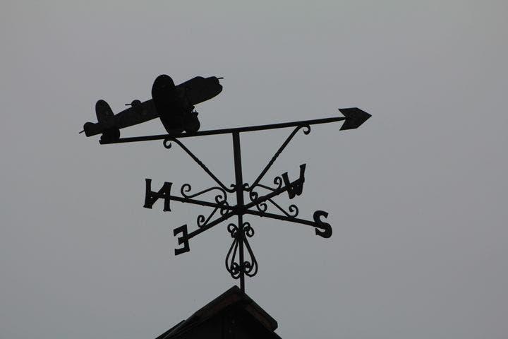 Denis Charles James McKendry Lancaster bomber weathervane