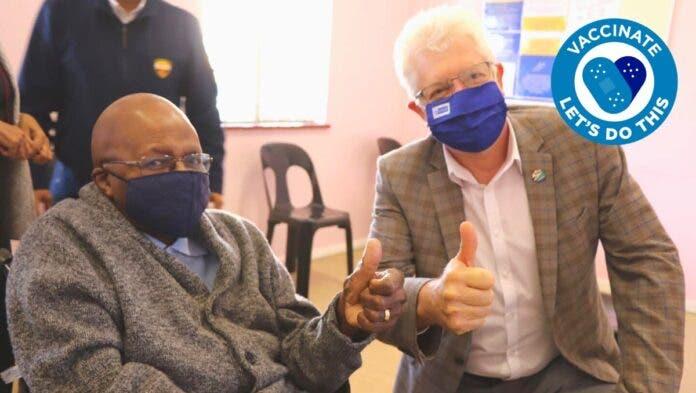 Archbishop Desmond Tutu Gets Vaccinated