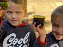 Deon with his twin brother, Karl, on their 5th birthday.