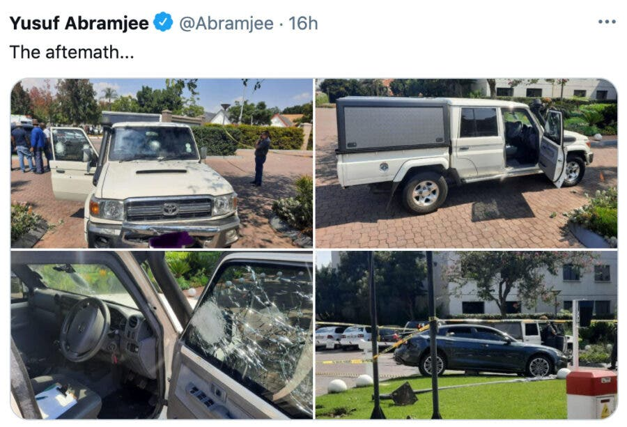 Brave Driver of Escort Vehicle Under Attack in South Africa