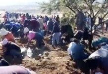 Diamond Rush as Fortune Seekers Flock to Village Near Ladysmith, South Africa