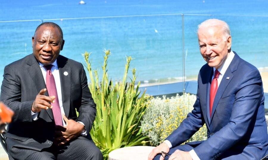 G7 Ramaphosa meets with Biden
