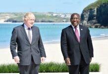 G7 Ramaphosa British Johnson Cornwall