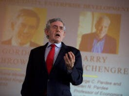 Caption – Former UK Prime Minister Gordon Brown calls for major investment in order to ensure an ongoing effective global vaccination plan