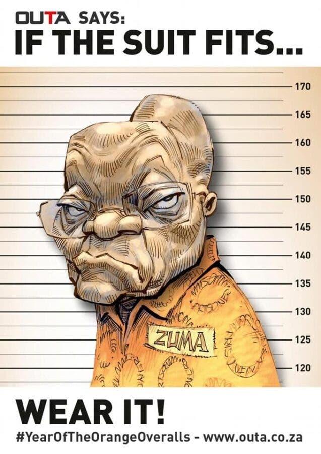 JOKE OUTA Zuma Sentenced