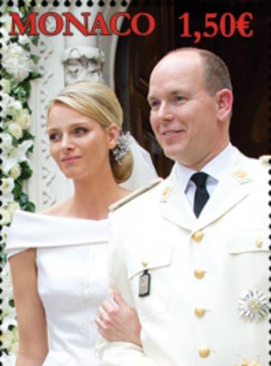Monaco-Royal-Wedding-anniversary-stamp-postal