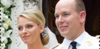 Monaco royal wedding anniversary stamps