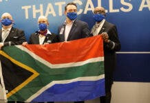 Warm Welcome for United Airline's First New York to Joburg Flight