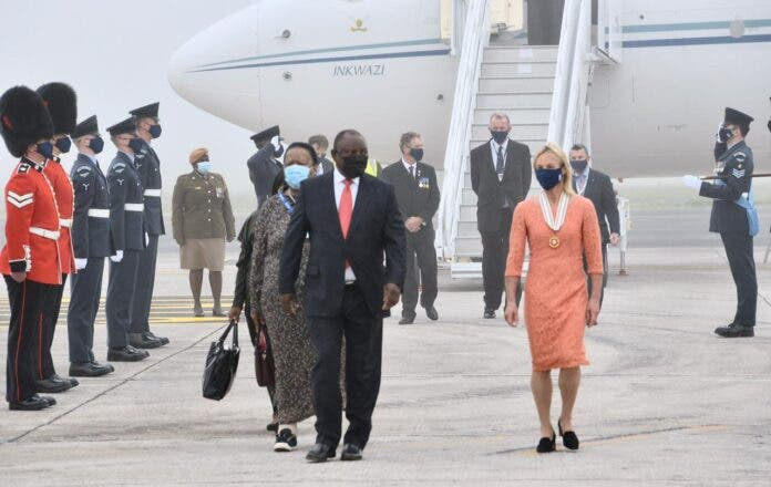 President Ramaphosa Arrives in the UK for G7 Summit