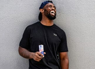 Siya Kolisi poses for a portrait in Cape Town, South Africa on February 7, 2021 // Craig Kolesky/Red Bull Photo credit: Red Bull Content Pool