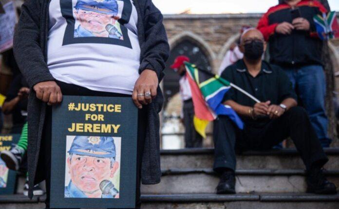 jeremy veary MARCH PROTEST police dismissal