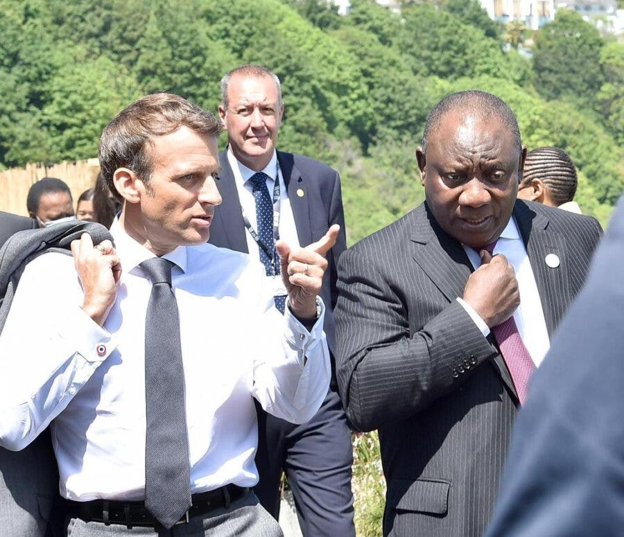 macron ramaphosa G7 South Africa France