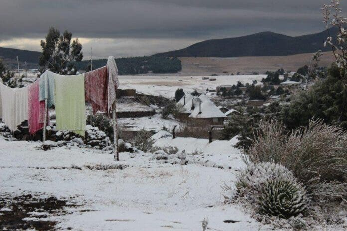 Light snow in southern Africa. Photos supplied.