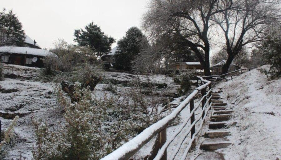 Light snow in southern Africa, Lesotho