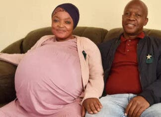 The Pretoria couple before the birth of their 10 babies. Photo: Facebook